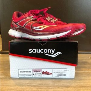 Shoes - Women's Saucony Running shoes Triumph ISO 3 Pink